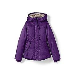 Lands' End - Girls' purple fleece lined jacket