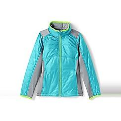 Lands' End - Girls' blue primaloft hybrid jacket