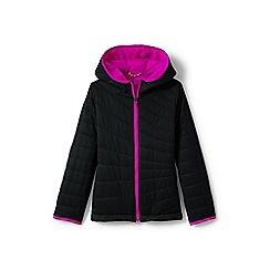 Lands' End - Girls' black primaloft packable jacket