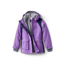 2ccbecc27 Lands  End Purple toddler kids  packable thermoplume jacket
