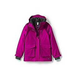 Lands' End - Girls' pink squall parka