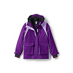 Lands' End - Girls' purple squall parka