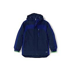 Lands' End - Boys' blue waterproof squall coat