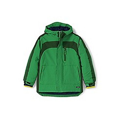Lands' End - Boys' green waterproof squall coat