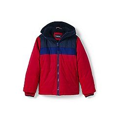 Lands' End - Boys' red fleece-lined jacket