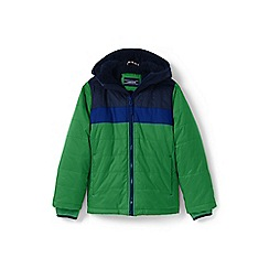 Lands' End - Boys' green fleece-lined jacket