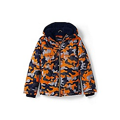Lands' End - Toddler boys' orange print fleece-lined jacket