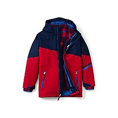 Lands' End - Boys' blue stormer 3-in-1 coat