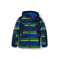 Lands' End - Boys' multicoloured striped stormer jacket