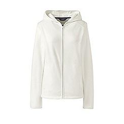 Lands' End - Cream petite hooded fleece