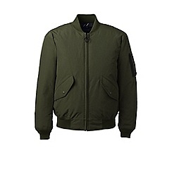 Lands' End - Green squall down bomber jacket