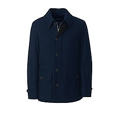 Lands' End - Blue wool blend car coat