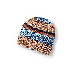 Lands' End - Boys' orange chunky rib beanie hat