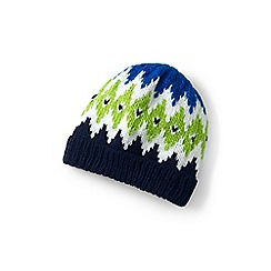 Lands' End - Boys' green chunky rib beanie hat