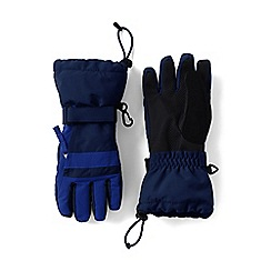 Lands' End - Boys' blue waterproof squall gloves
