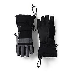 Lands' End - Black boys' waterproof squall gloves