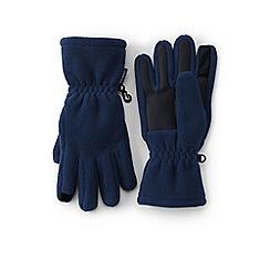 Lands' End - Boys' blue fleece gloves