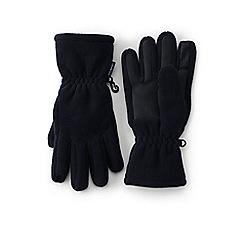 Lands' End - Black boys' fleece gloves