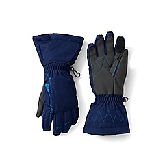 Lands' End - Girls' blue expedition gloves