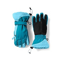 Lands' End - Girls' blue waterproof squall gloves