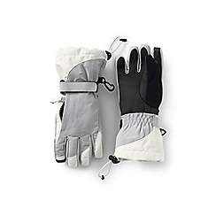 Lands' End - Grey girls' waterproof squall gloves