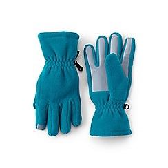 Lands' End - Blue girls' thermacheck 200 gloves