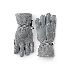 Lands' End - Grey girls' thermacheck 200 gloves