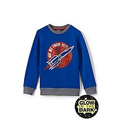 Lands' End - Boys' blue graphic sweatshirt