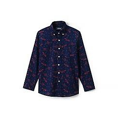 Lands' End - Boys' blue print poplin shirt