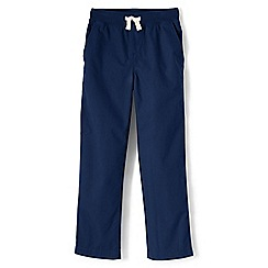 Lands' End - Toddler boys' blue iron knee pull-on trousers