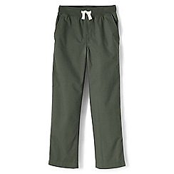 Lands' End - Boys' green iron knee pull-on trousers