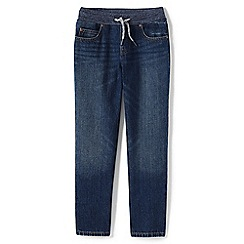 Lands' End - Boys' blue iron knee pull-on jeans