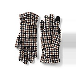 Lands' End - Multi fleece ruched patterned ez touch gloves