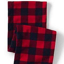Lands' End - Red fleece patterned scarf