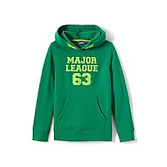 Lands' End - Boys' green hooded sweatshirt