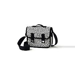 Lands' End - Girls' white dalmation dot print cross body satchel