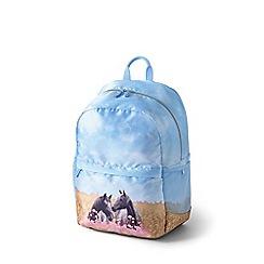 Lands' End - Blue kids' photo real backpack