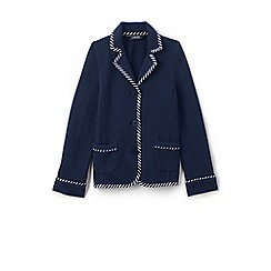 Lands' End - Girls' blue soft jersey blazer