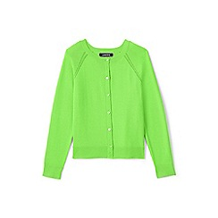 Lands' End - Green toddler girls' crew neck Sophie cardigan