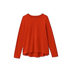 Lands' End - Girls' brown plain long sleeve jersey tee