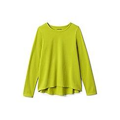 Lands' End - Girls' yellow plain long sleeve jersey tee