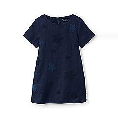 Lands' End - Girls' blue chambray legging top