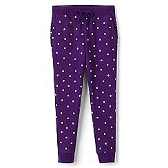 Lands' End - Girls' purple print joggers