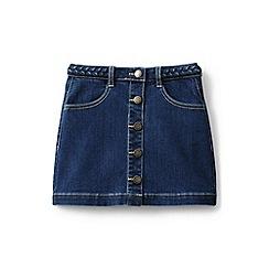 Lands' End - Girls' blue denim skirt