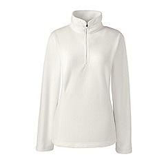 Lands' End - Cream tall half zip fleece pullover
