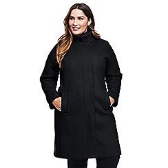 Lands' End - Black plus wool blend coat