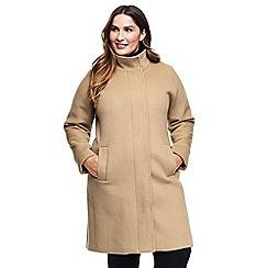 Lands' End - Beige plus wool blend coat