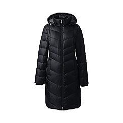Lands' End - Black petite casual down long coat