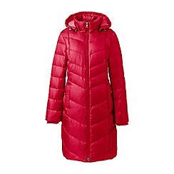 Lands' End - Red petite casual down long coat