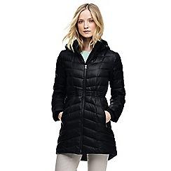 Lands' End - Black petite casual down coat
